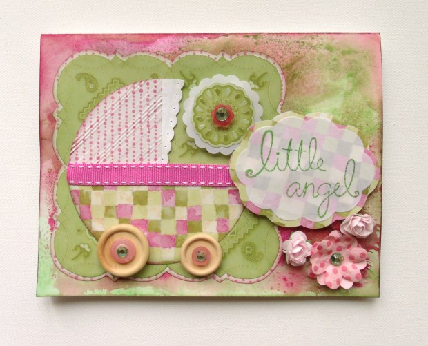 I chose this one because it's a little bit different and it's super sweet. I have a weakness for baby cards!