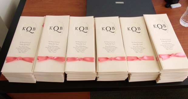 185 Wedding Programs