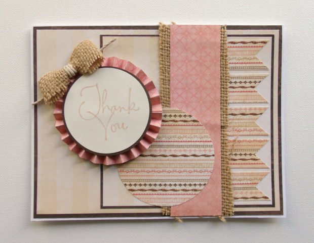 Pink and Burlap Thanks 1