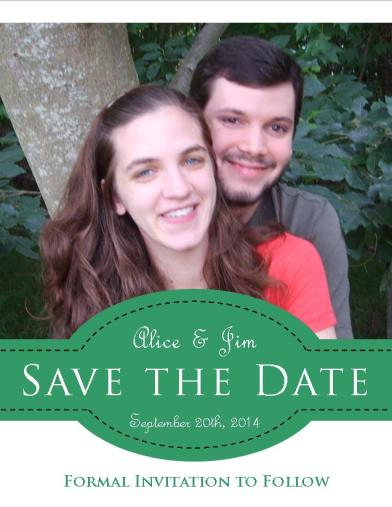 Save the Date with Banner