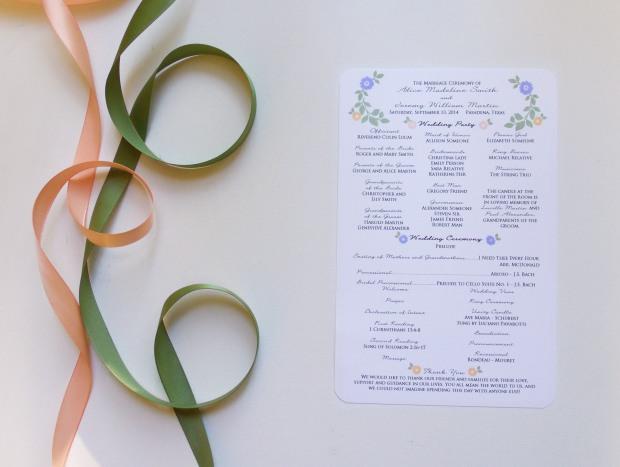 stamped floral program 1