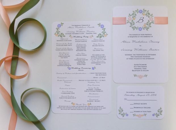 stamped floral program 2