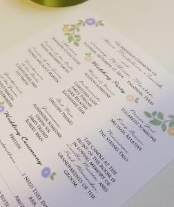 stamped floral program 4