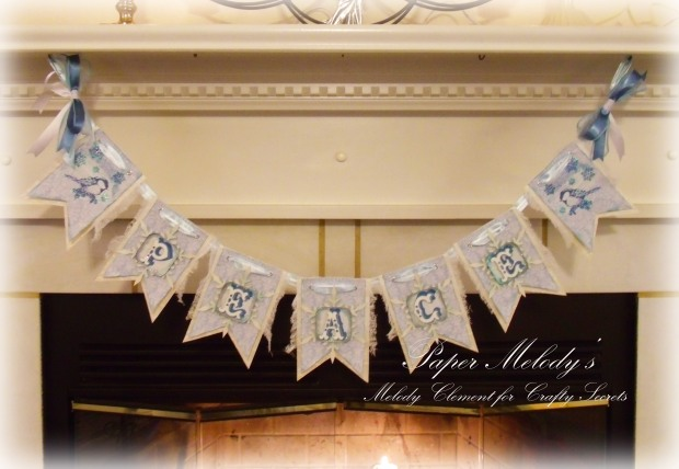 Peace Christmas Banner by Paper Melody's for Crafty Secrets December Linky Party