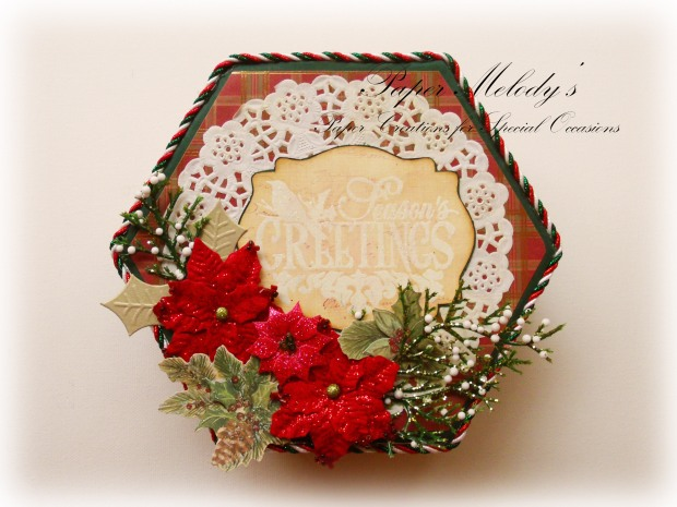 Season's Greetings Altered Box
