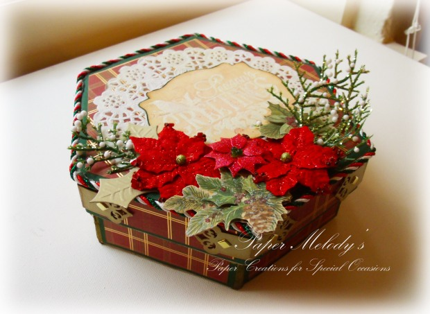 Seasons Greetings Altered Box