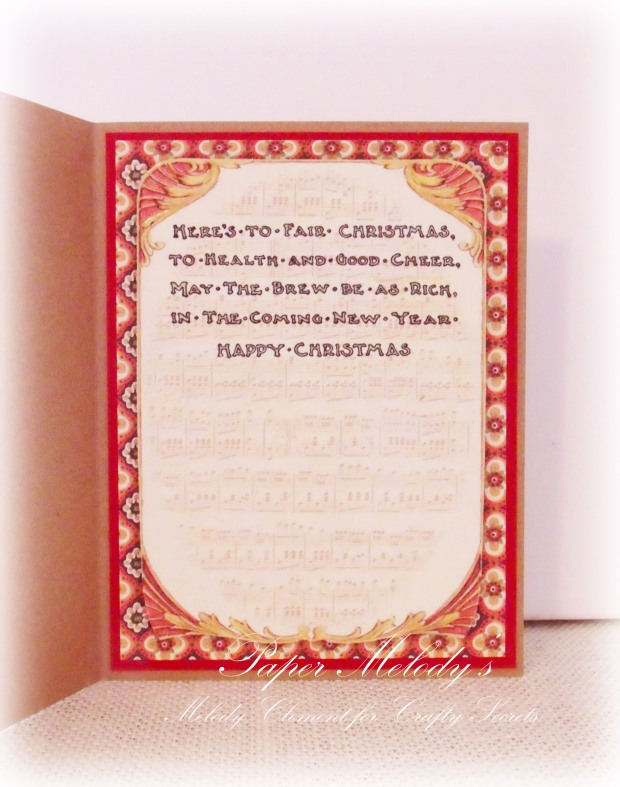 A Christmas Toast Vintage Santa Card for Crafty Secrets