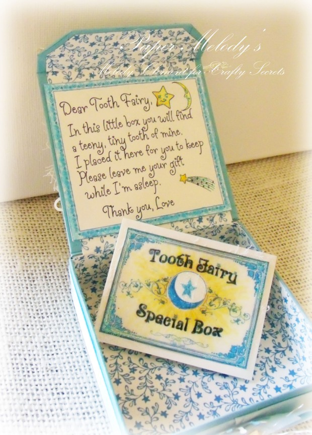 Tooth Fairy Box made with Crafty Secrets Bedtime Kids set, by Paper Melody's