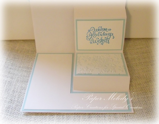 Fun Fold and Sparkly Merry Christmas Card by Paper Melody's