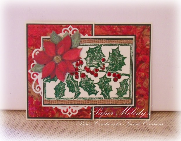 Joy-Fold Merry Christmas Card by Paper Melody's