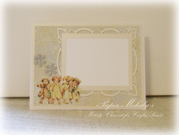 Vintage Snow Babies Card for Crafty Secrets by Paper Melody's