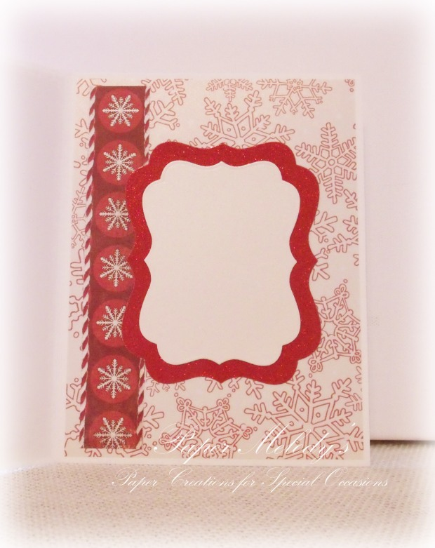 Snowflakes in Red and Cream by Paper Melody's