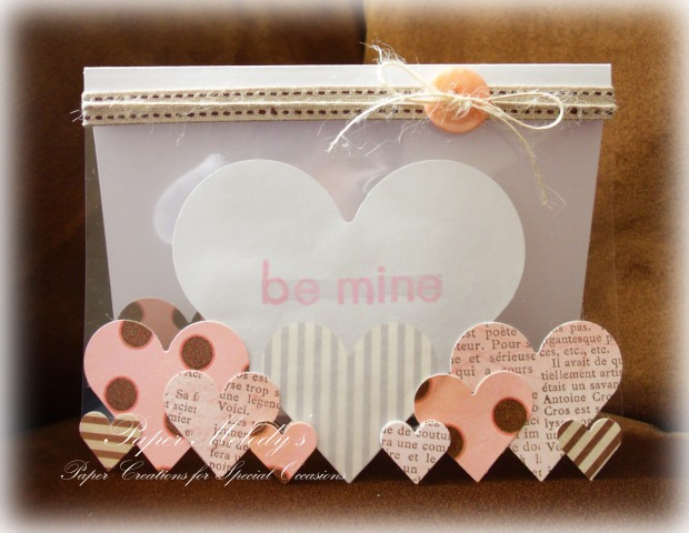 Candy Heart Valentine Card by Paper Melody's
