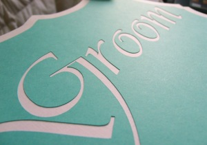 Bride & Groom Chair Signs by Paper Melody's