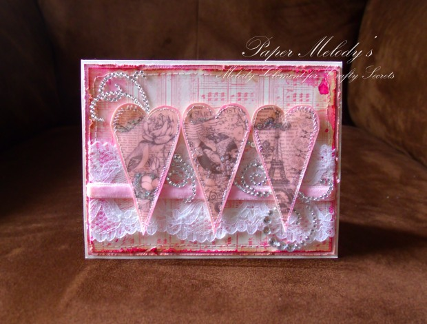 Heart to Heart Romantic Valentine by Paper Melody's using Crafty Secrets digital products