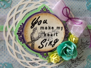 You Make My Heart Sing card by Paper Melody's, made with Crafty Secrets digital stamps and Silhouette designs