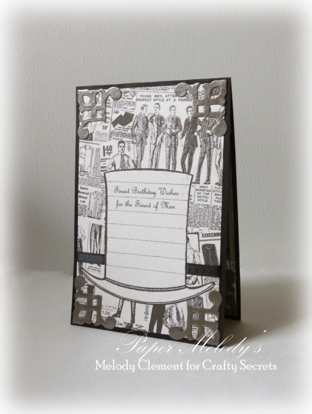 """Masculine birthday card for a """"fine man"""" by Paper Melody's with Crafty Secrets"""
