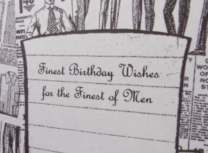 "Masculine birthday card for a ""fine man"" by Paper Melody's"