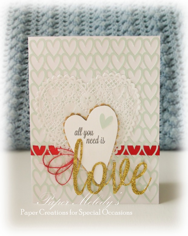 All You Need is Love simple valentine by Paper Melody's