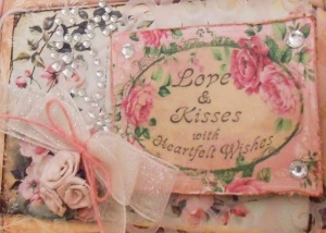 Love and Kisses Shabby Chic Valentine for Crafty Secrets by Paper Melody'