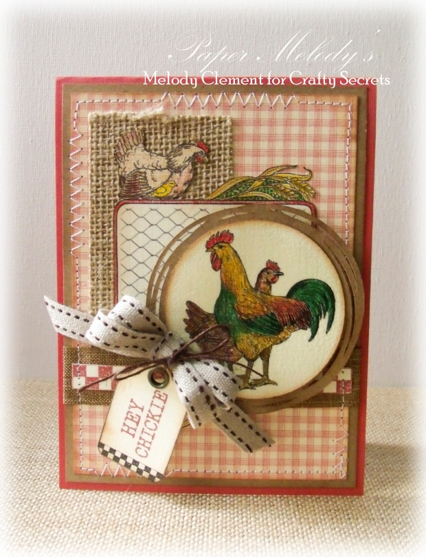 Hey Chickie card for the Crafty Secrets Farm Chicks Blog Hop!