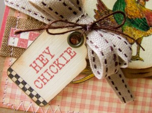 Hey Chickie card for the Crafty Secrets Farm Chicks Blog Hop