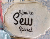 You're Sew Special Vintage Birthday Card made with Crafty Secrets CD #7