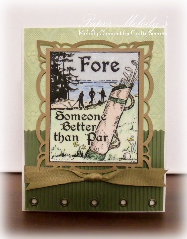 Crafty Secrets Happy Birthday Card for the Golf Lover in your life