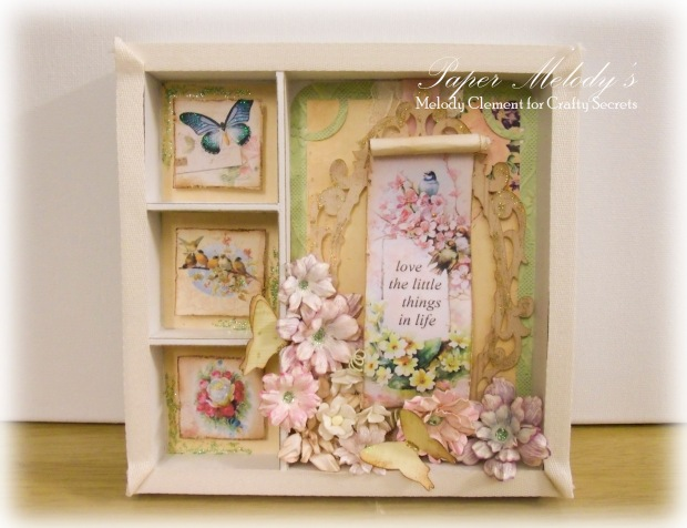 Love the Little Things Shadowbox for Crafty Secrets Blog Hop