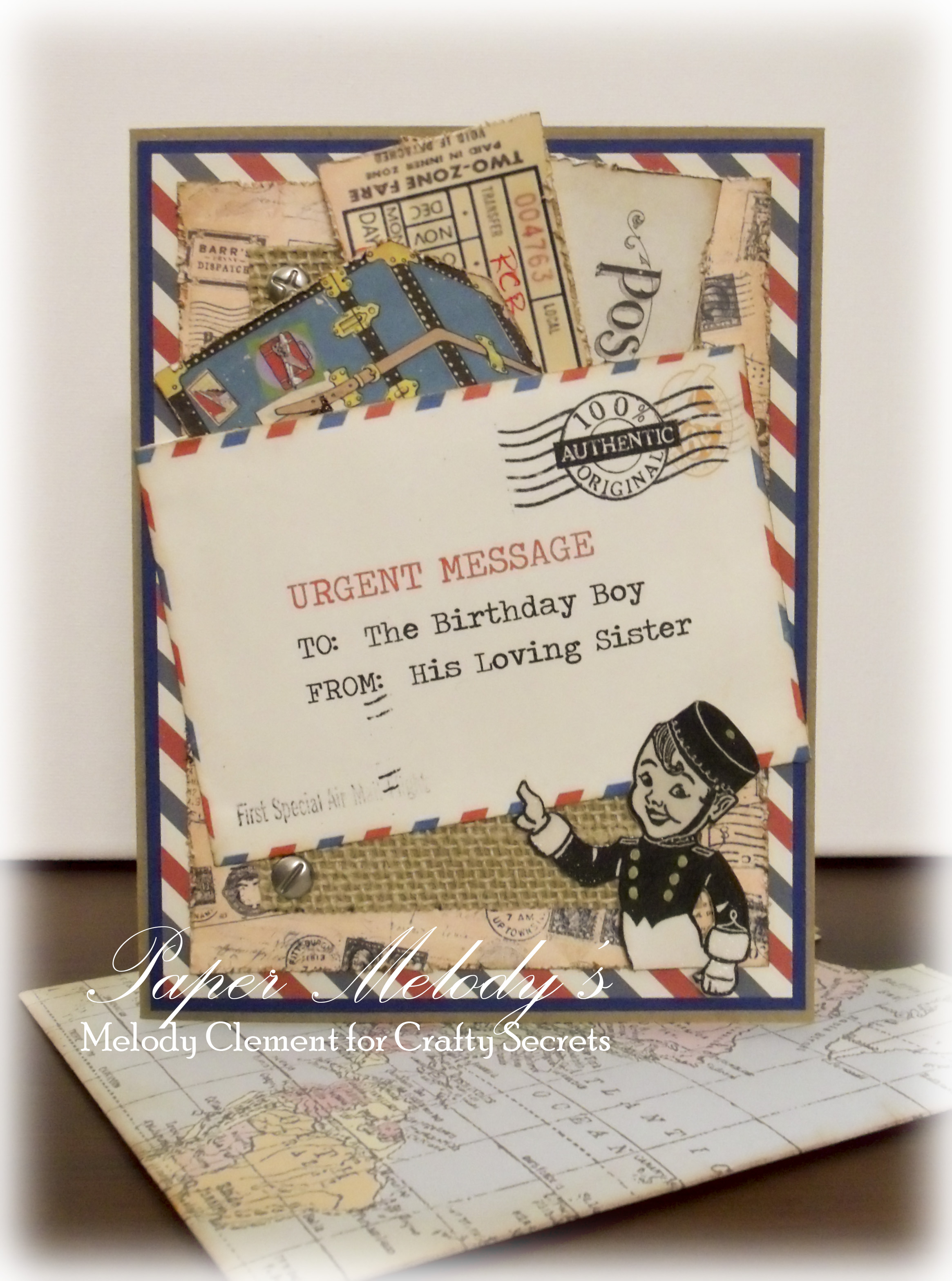 Birthday card for a world traveler by paper melodys paper melodys published august 16 2015 at 2330 3135 in birthday card kristyandbryce Image collections