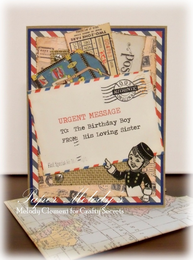 Birthday card for a world traveler by Paper Melody's