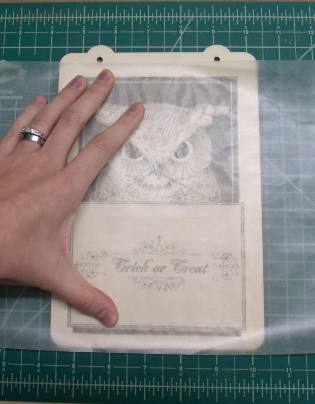Wax Paper to Wood Tutorial